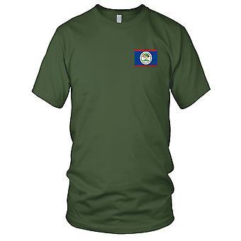 Drapeau National du pays Belize - brodé Logo - T-Shirt 100 % coton T-Shirt Mens