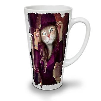 Kitty Girl Cute Face NEW White Tea Coffee Ceramic Latte Mug 12 oz | Wellcoda