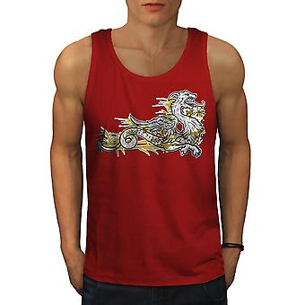 Dragon Beast Asia Men RedTank Top | Wellcoda
