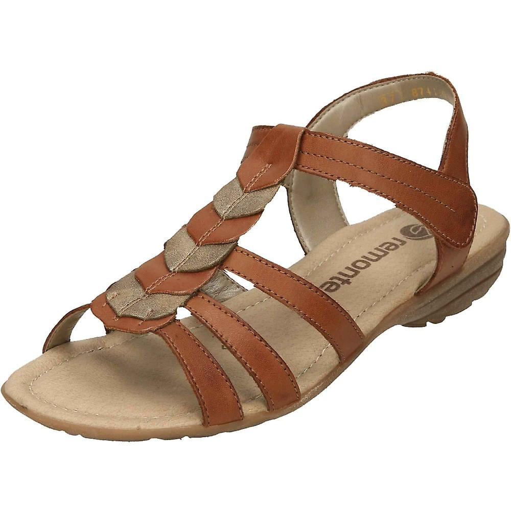 Remonte Brown Gladiator Touch Fastening Wedge Sandals R3658