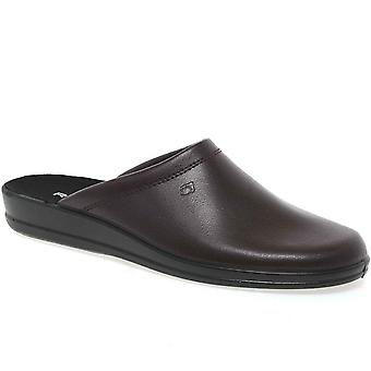 Rohde Mule 2690 Wine Leather Mens Slippers