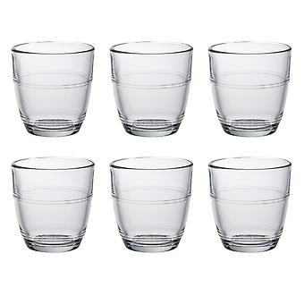 Duralex Set of 6 Gigogne Tumblers, 9cl
