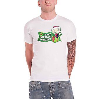 Oficial Padre de familia Camiseta Stewie Navidad Freakin Vacaciones Hombres Nuevo Blanco