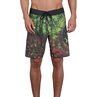 Volcom Chill Out Stoney Mid Length Boardshorts in Black Combo