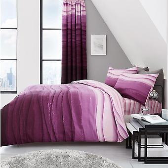 Wave Ombre Striped Duvet Cover Set