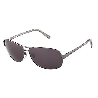 Classic sunglasses for men by Burgmeister with 100% UV protection | sturdy metal frame, high quality sunglasses case, microfiber glasses pouch and 2 year warranty | SBM200-111 Arizona