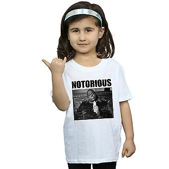 Nototrious store jenter svart-hvitt bilde t-skjorte