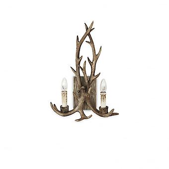 Ideal Lux Chalet madera ciervo cuerno Lampara de pared 2