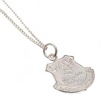 Everton Sterling Silver Pendant & Chain