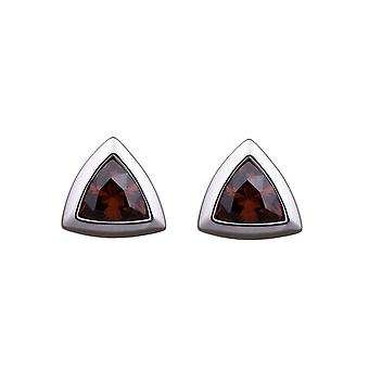 Orphelia Silver 925 Earring Triangle Zirconium Coffee  ZO-5909