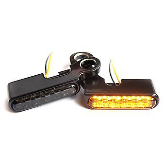 Iron optics motorcycle LED indicator for handlebar