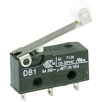 ZF Microswitch DB1C-A1RC 250 V AC 6 A 1 x On/(On) momentary 1 pc(s)