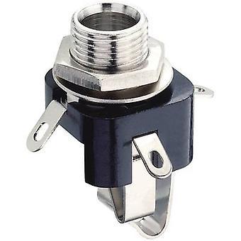 Lumberg KLB 3 6,35 mm ljudutgång uttag, vertikal vertikal antal stift: 3 Stereo svart 1 dator