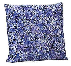 Blue Butterfly Design Cushion