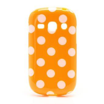 Estojo de protecção para móvel fama Samsung Galaxy S6810 laranja