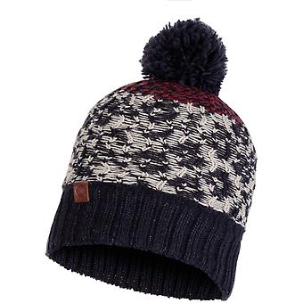 Buff Thor Knitted Bobble Hat in Navy