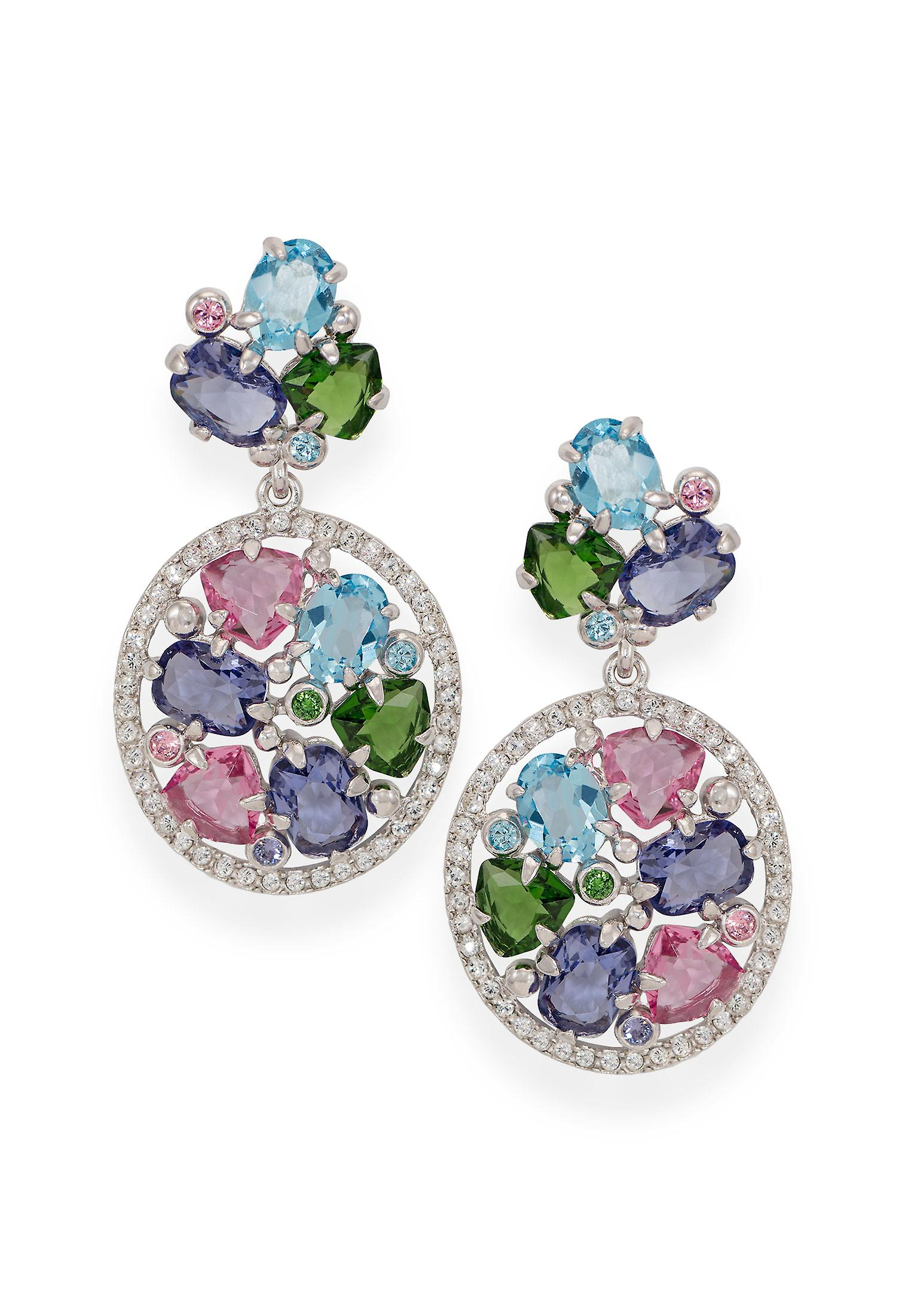 Multicolor earrings with crystals from Swarovski 4810