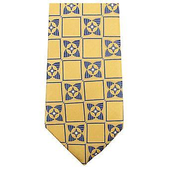 Knightsbridge Neckwear Square Flower Tie - Yellow/Navy