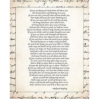If Poster Print by Rudyard Kipling (16 x 20)