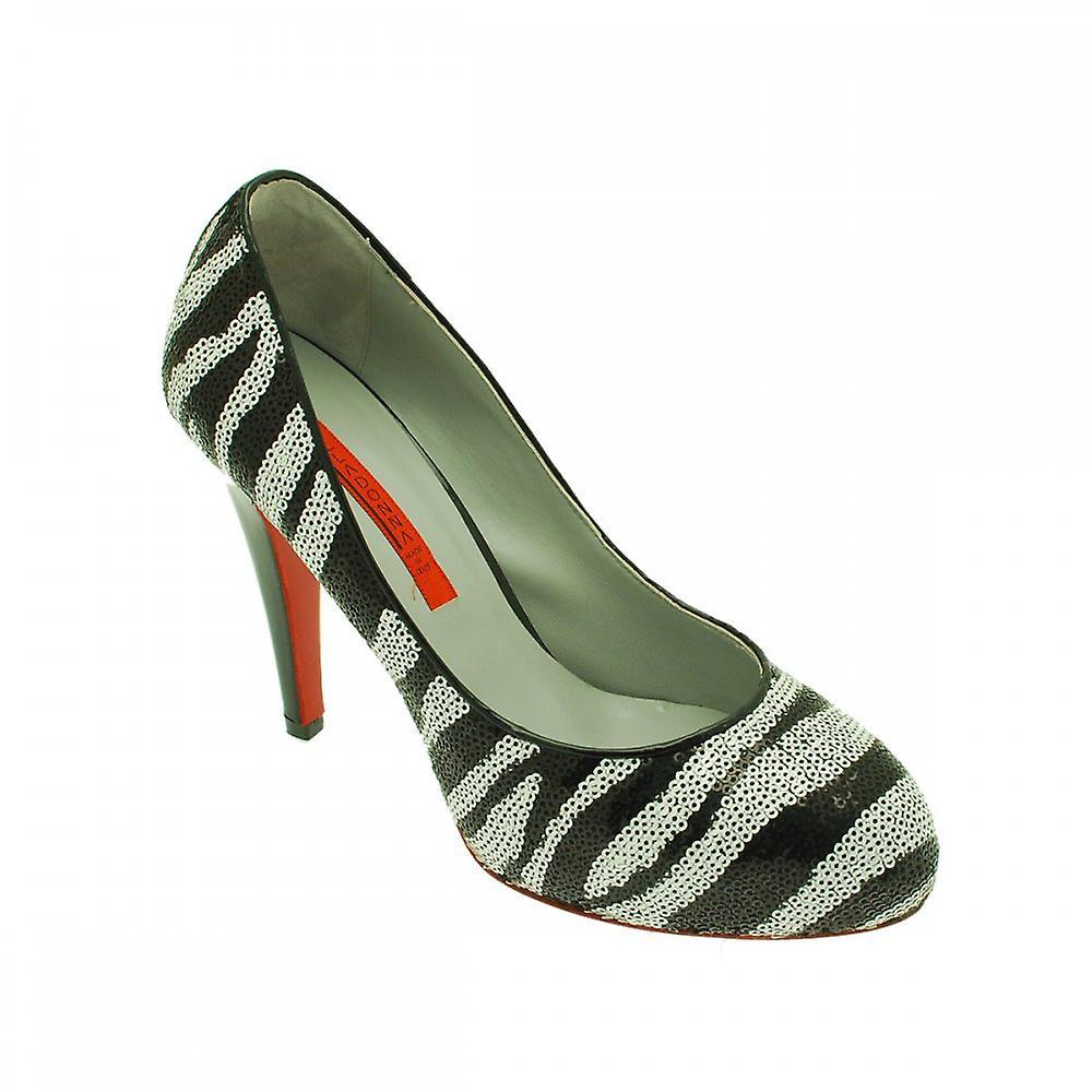 Renata Sequinned zebry druku wysokie buty pięty ffYqG