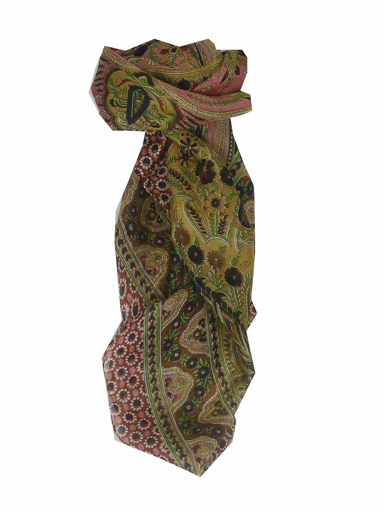 Mulberry Silk Traditional Square Scarf Margao Red by Pashmina & Silk