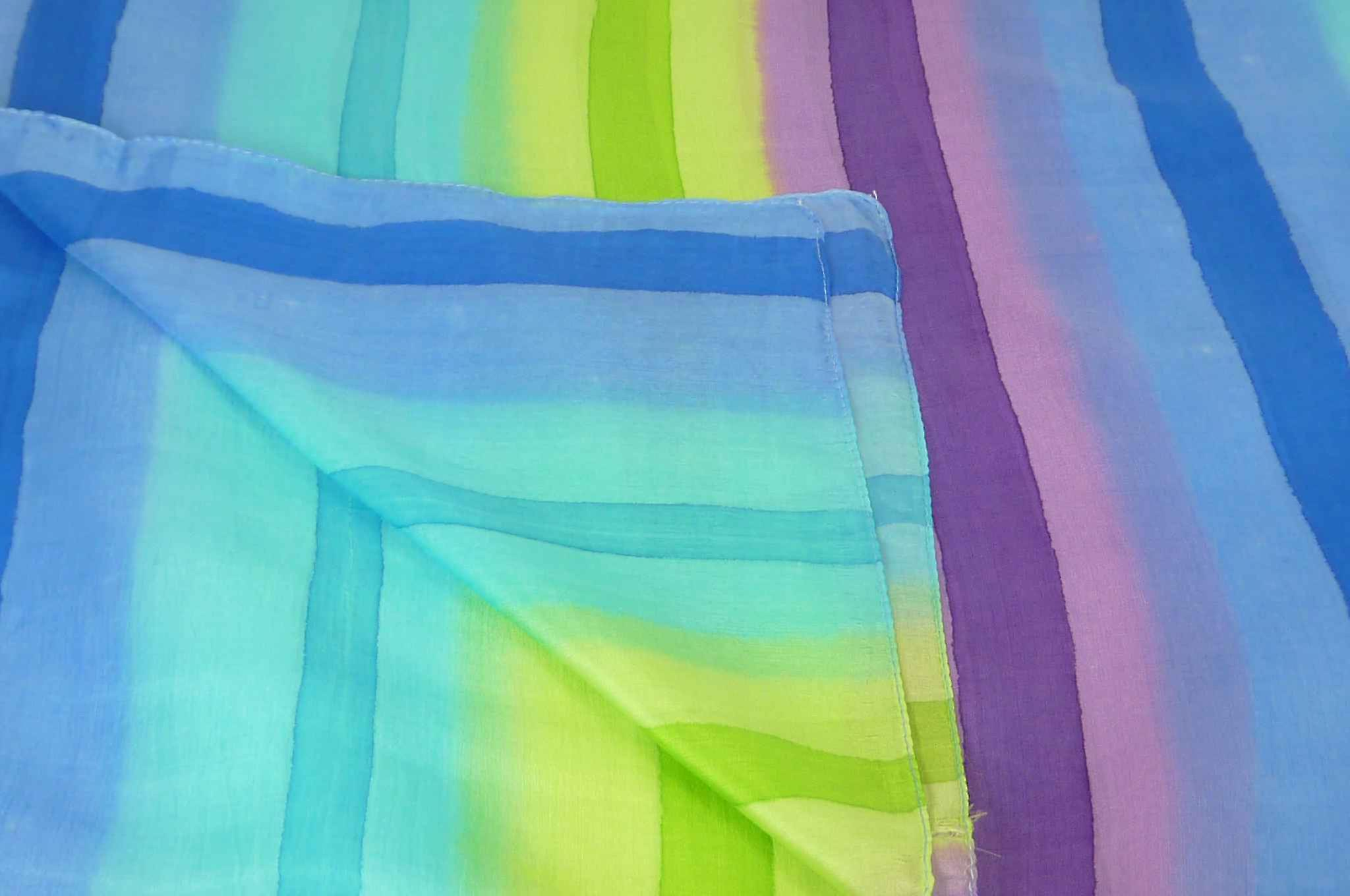 Mulberry Silk Classic Long Scarf Manohar Rainbow Palette by Pashmina & Silk
