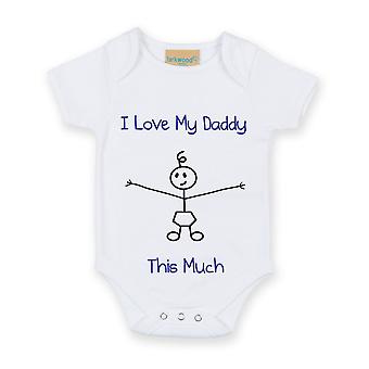 I Love My Daddy This Much Boys White Baby Grow