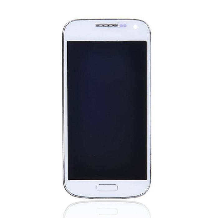 Stuff Certified ® Samsung Galaxy S4 Mini Screen (AMOLED + Touch Screen + Parts) A + Quality - Blue / White