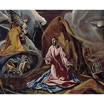 L'agonie dans le jardin, El Greco, 50x40cm
