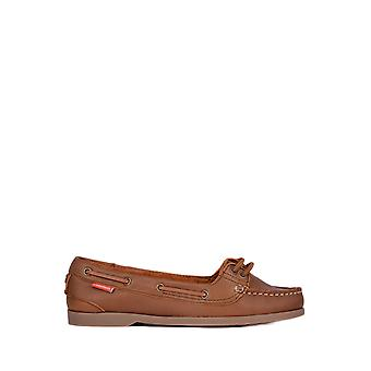 Chatham Harper Premium Leather Boat Shoes in Brown