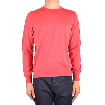 Brunello Cucinelli Ezbc002040 Men's Red Cotton Sweater