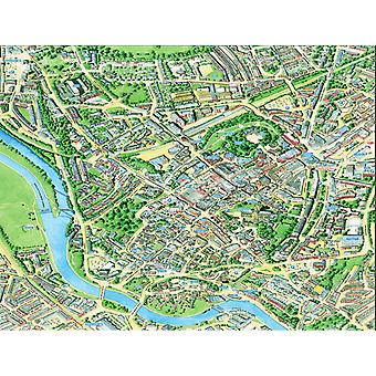 Cityscapes Street Map Of Exeter 400 Piece Jigsaw Puzzle 470mm x 320mm (hpy)