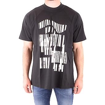 Y-3 Ezbc045014 Männer's schwarze Baumwolle T-shirt