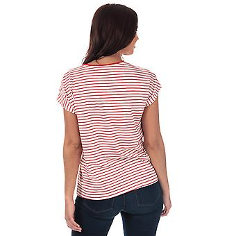Womens Vero Moda Clia Bee T-Shirt In Snow White / Fiery Red