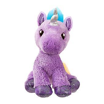 """Contos Sparkle 12 """"Electra Purple Unicorn Plush Toy"""