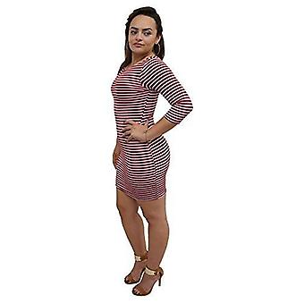 Dbg women's bodycon 3/4 sleeves party polyester dress