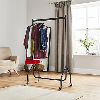 3ft Länge x 5ft qualitativ hochwertige schwere Kleiderstange im schwarzen Metallbau