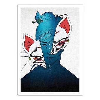 Art-Poster-Fox Mask voorzijde-Seventraps 50 x 70 cm