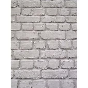Mörkgrå Brick Effect bakgrund Rasch 226720