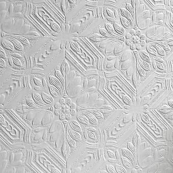 Anaglypta Supaglypta blanco pintado floral pintable en relieve resistente duradero