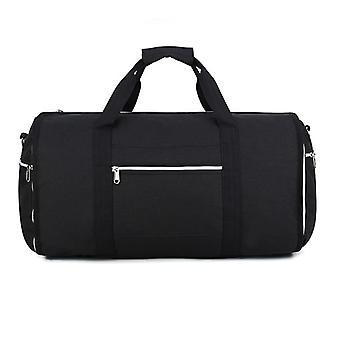 Weekendlaukku ja vaate laukku olka hihnalla, musta