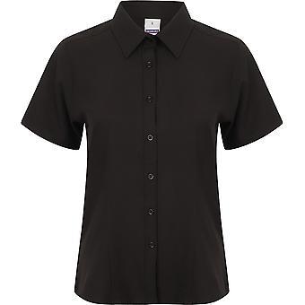 Henbury - Women's Ladies Wicking Antibacterial Short Sleeve Shirt