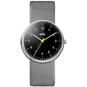 Braun classic Quartz Analog Man Watch with BN0021BKSLMHG Stainless Steel Bracelet