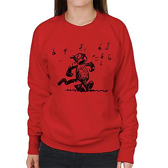 Krazy Kat Singing Women's Sweatshirt