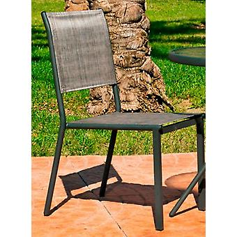 Wellindal Chair Steel and Textile In Calcutta 2 Stackable Anthracite (Garden , Others)