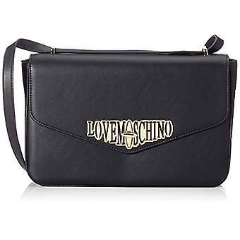 Bolso crossbag de mujer De amor Moschino Pu (negro) 18x6x29 cm (ancho x alto x alto)