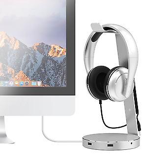 Aluminium Headphone Stand w/ USB 3.0 Hub and Audio