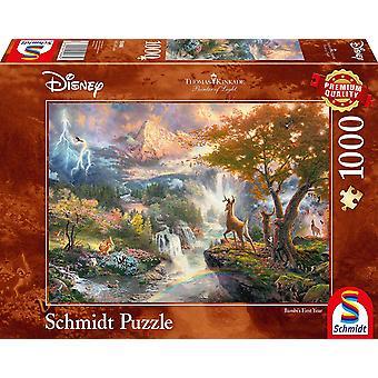 Schmidt Spiele 59486 Thomas Kinkade Disney Bambi Jigsaw