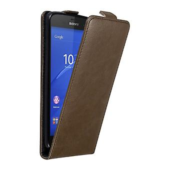 Cadorabo Hülle für Sony Xperia Z3 COMPACT Case Cover - Handyhülle im Flip Design mit Magnetverschluss - Case Cover Schutzhülle Etui Tasche Book Klapp Style