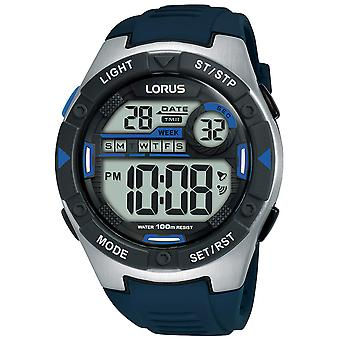 Lorus Digital Man Uhr Digital Quarz mit Silikon Armband R2395MX9